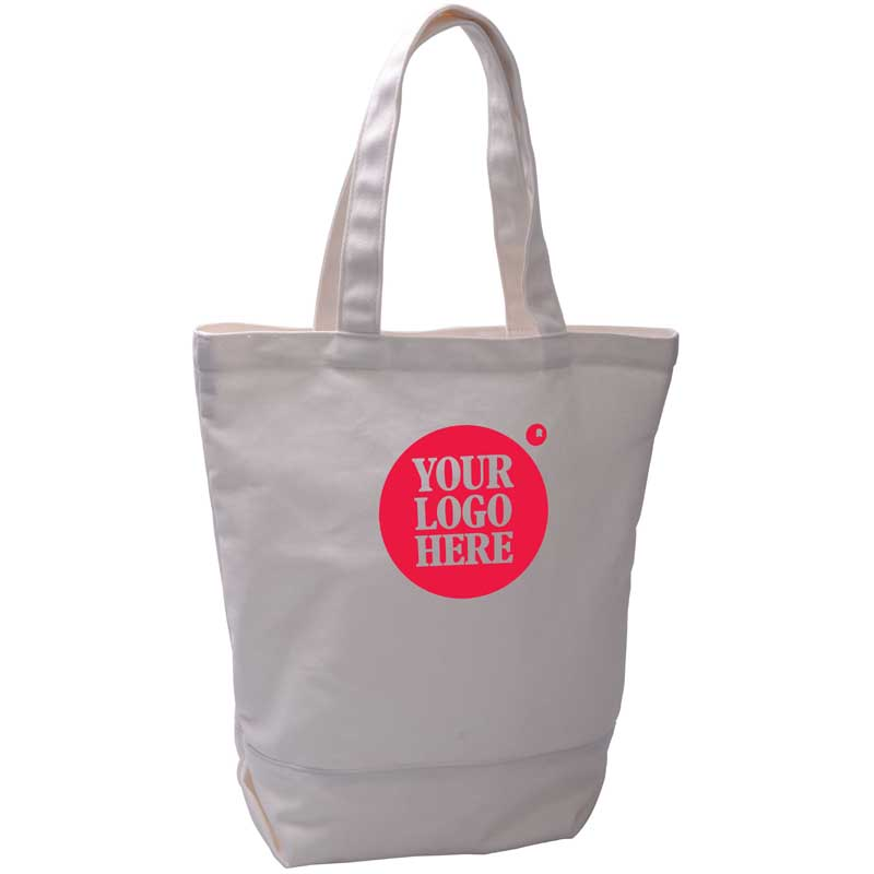 Monogrammed Canvas Tote Bag by imprint logo
